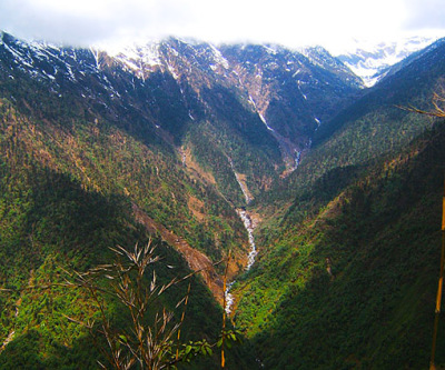 Deep valleys in northern Kachin State