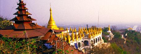 Buddhist stupas in Mandalay