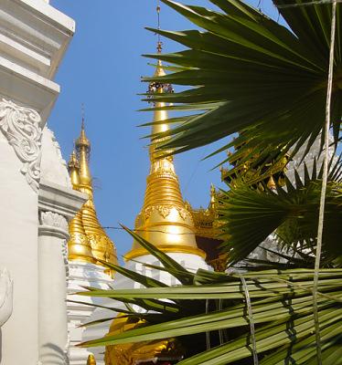 golden Buddha stupa