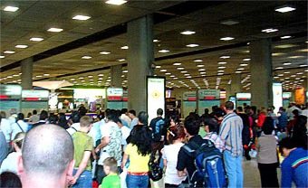 Arriving at Bangkok Airport Immigration
