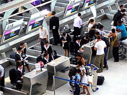 Bangkok Airport Check in Counter