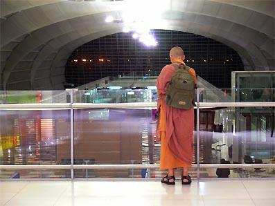 stranded Myanmar or Burmese Monk