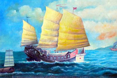 Chinese Junk Vessel 17 century