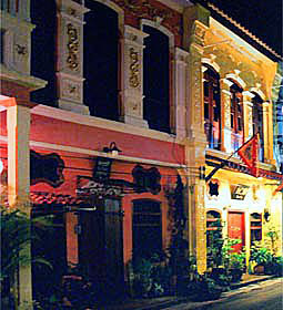 Phuket old city center houses