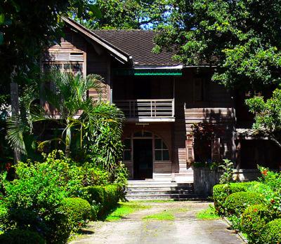 stately teak villa