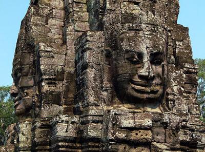 face tower at Angkor Thom close up