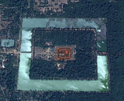 angkor wat by satellite