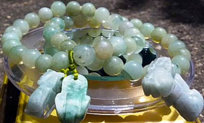 jade ball chain from Burma
