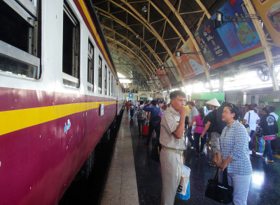 Hua Lamphong Train Leaving