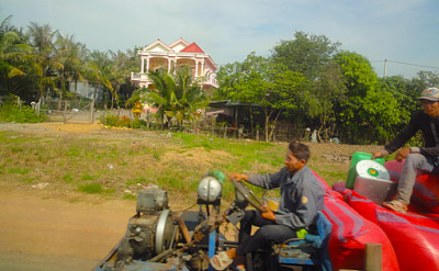 on the road in Koh Kong