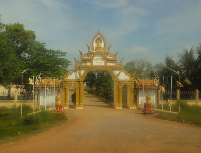 entrance to a Buddhist Temple