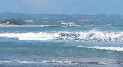 kuta beach and airport