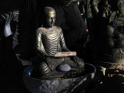 Buddha is protecting the beach