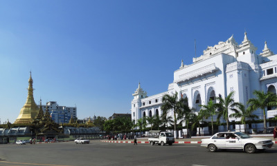 yangon Myanmar center city hall