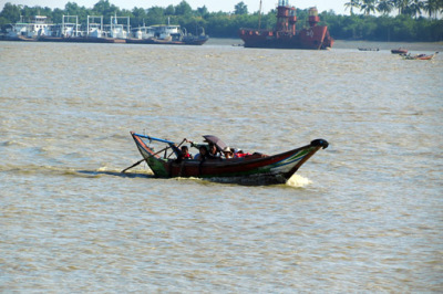 ferry over the yangon river