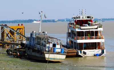 At the Yangon River