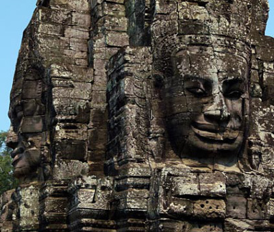 Angkor Thom face tower