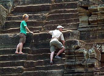 Visiting Angkor Thom