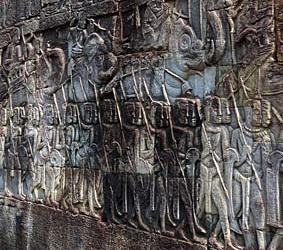 Outer Bayon relief