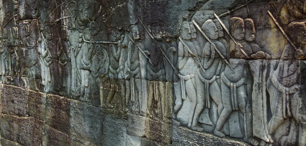 outer bayon bas-relief