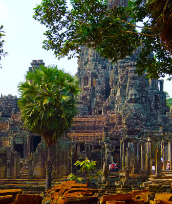 bayon temple and face tower
