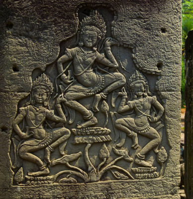 apsara dancer bas-relief (1)