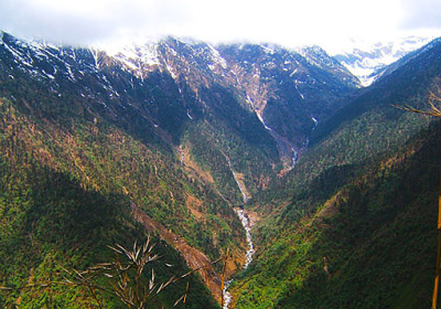 Deep valleys in Kachin State