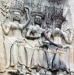 Apsara from stone bar-relief