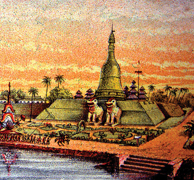 a stupa in the 16th Century
