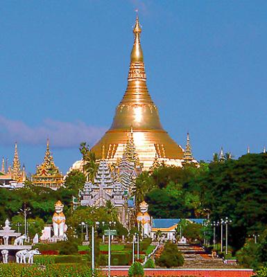the shwedagon stupa