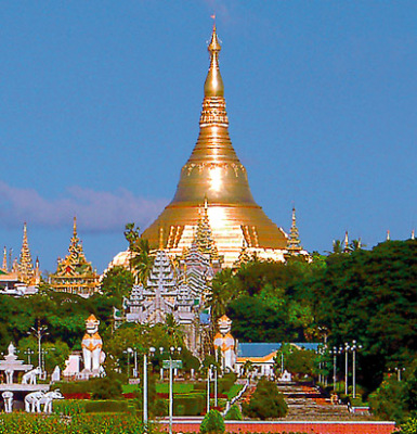 the shwedagon stupa