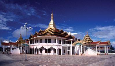 A temple stupa combination