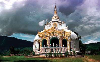 stupa and temple combined
