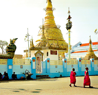The botathaung stupa in Yangon