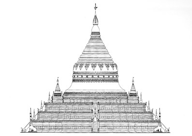 buddhist stupa cross section