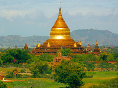 Stupa with a Golden Dome