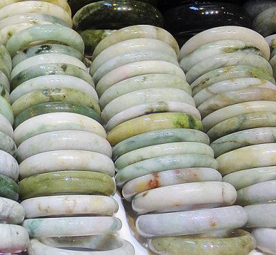white jade bangles