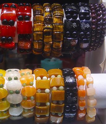 amber and jade bracelets