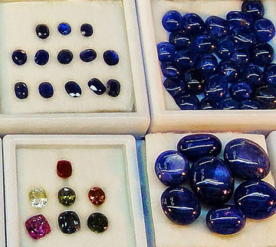corundum with different colors