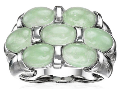 jade silver ring for men