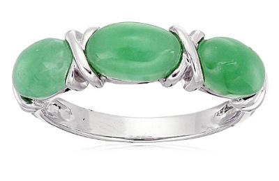 Myanmar jadeite ring