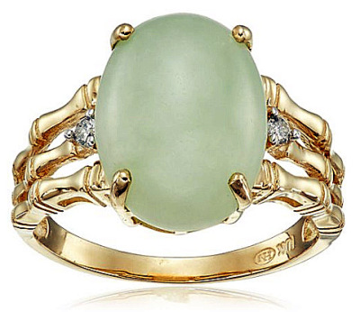 jade ring for women yellow gold