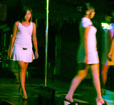 Yangon nightclub girls