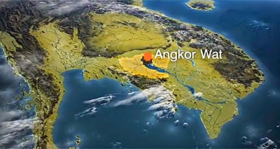 Location of Angkor Wat