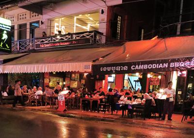Pub street dinner