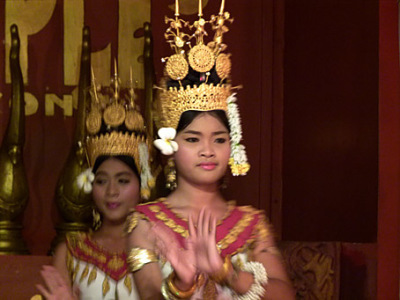 Khmer dancer in action
