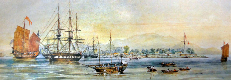 Penang harbor in 1856