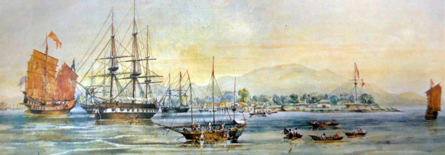 Penang harbor in 1856