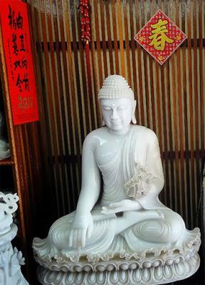 white jade Buddha Statue