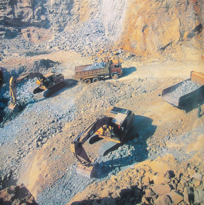 open air mine in Mogok